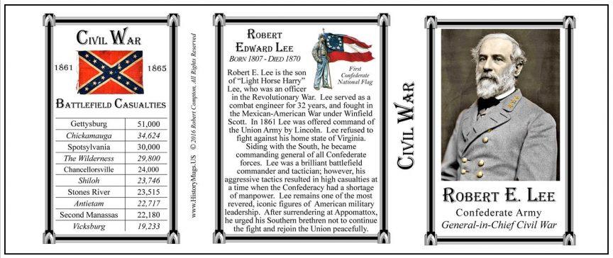 Robert E. Lee mug, tri-panel