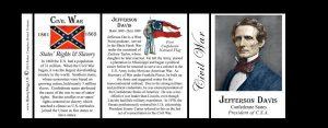 Jefferson Davis Civil War history mug tri-panel.