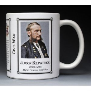 Judson Kilpatrick Civil War Union Army history mug.