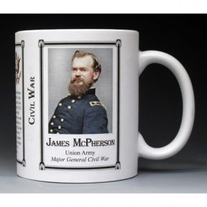 James McPherson Civil War Union Army history mug.