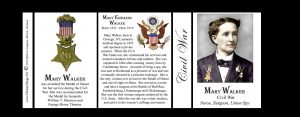 Mary Edwards Walker Civil War Union civilian history mug tri-panel.