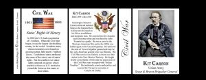 Kit Carson, Civil War Union Army history mug tri-panel.