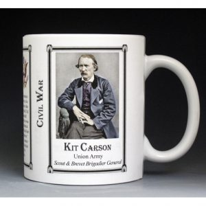 Kit Carson, Civil War mug