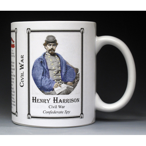 Henry Thomas Harrison Civil War history mug.