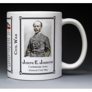 Joseph Johnston Civil War history mug.