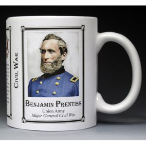 Benjamin Prentiss Civil War Union Army history mug.