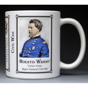 Horatio Wright Civil War Union Army history mug.