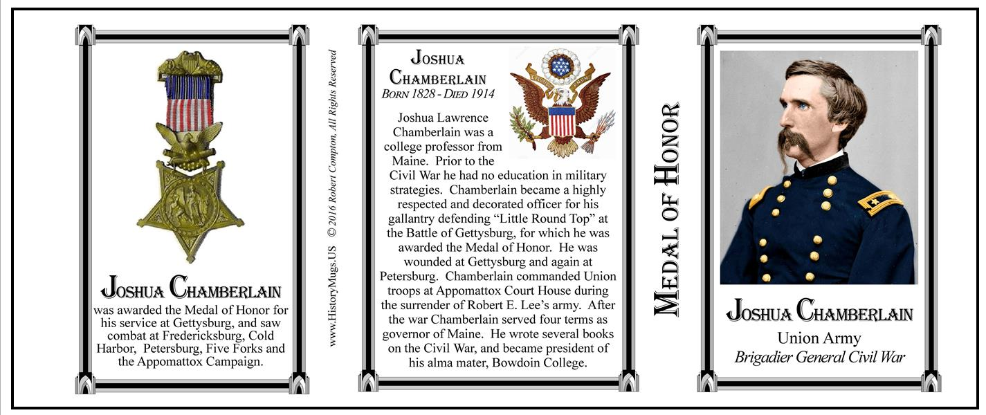 Chamberlain Joshua Medal Of Honor Historymugs Us