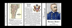George Dewey Vermont history mug tri-panel.