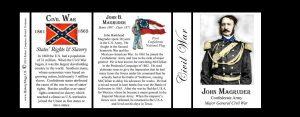 John B. Magruder Civil War history mug tri-panel.
