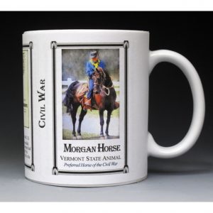 Morgan Horse Civil War Union Army history mug.