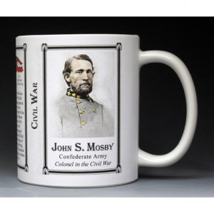 John S. Mosby Civil War history mug.