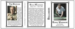 Rudolf Wanderone billiards history mug tri-panel.