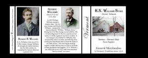 H.N. Williams Store Vermont history mug tri-panel.