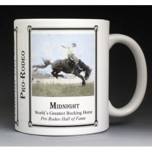 Midnight Pro-Rodeo history mug.
