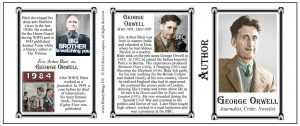 George Orwell Author history mug tri-panel.