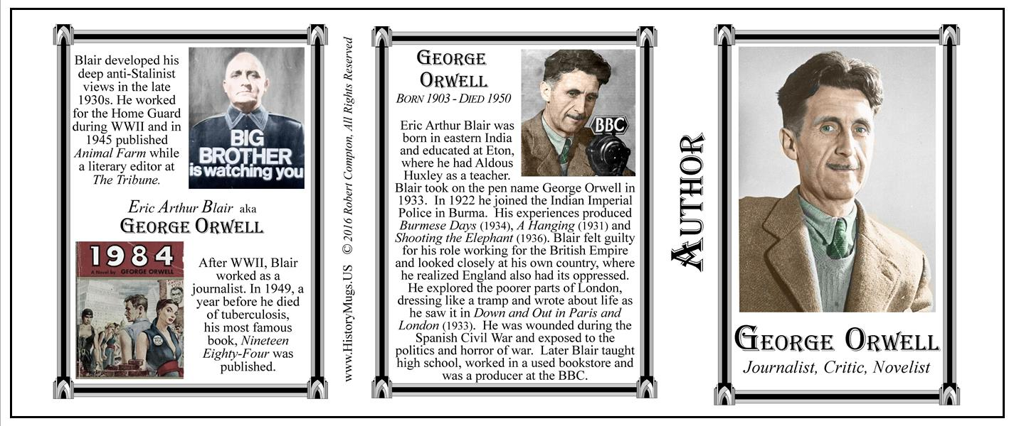the early life and works of george orwell Brain pickings remains free between them blossomed the tender and unspoken romantic affection of early george orwell: a life in letters is a fantastic read.