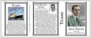 Jack Thayer Titanic survivor history mug tri-panel.