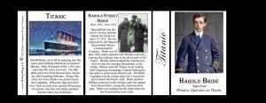 Harold Bride Titanic history mug tri-panel.