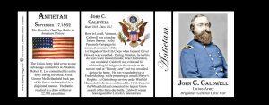 John Caldwell Antietam history mug tri-panel.