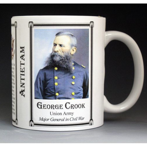 George Crook Antietam history mug.