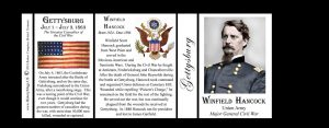 Winfield Scott Hancock, Gettysburg history mug tri-panel.