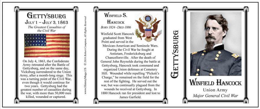 Winfield Hancock, Gettysburg mug tri-panel