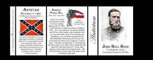 John Bell Hood, Antietam history mug tri-panel.