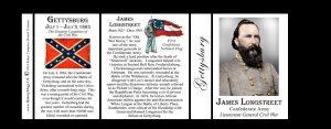 James Longstreet, Gettysburg history mug tri-panel.