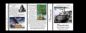 The USS Philadelphia Vermont history mug tri-panel.
