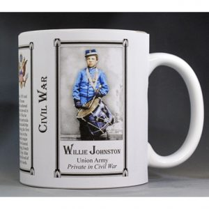 Willie Johnston Civil War Union Army Medal of Honor recipient history mug.