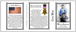 Willie Johnston Civil War history mug tri-panel.