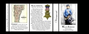 Willie Johnston Vermont history mug tri-panel.