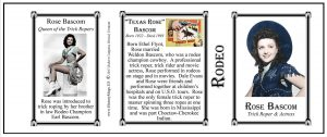 Texas Rose Bascom Pro-Rodeo history mug tri-panel.