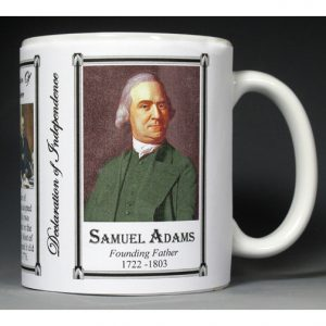 Samuel Adams Declaration of Independence signatory history mug.