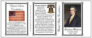 Abraham Baldwin US Constitution history mug tri-panel.