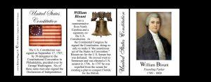 William Blount US Constitution history mug tri-panel.