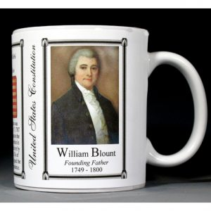 William Blount US Constitution history mug.