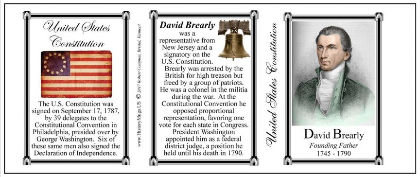David Brearly US Constitution history mug tri-panel.