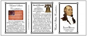 Jacob Broom US Constitution history mug tri-panel.
