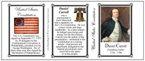 Daniel Carroll US Constitution history mug tri-panel.