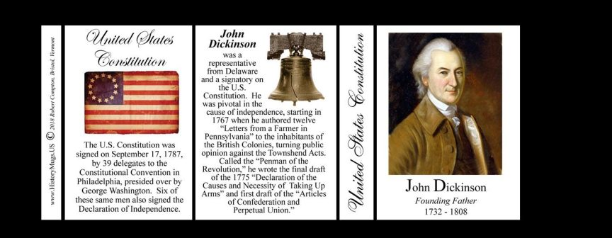 John Dickinson US Constitution history mug tri-panel.