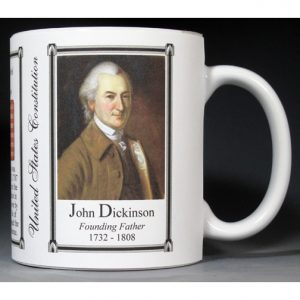 John Dickinson, US Constitution history mug.