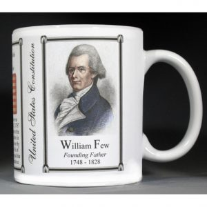William Few, US Constitution history mug.