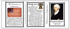 Elbridge Gerry Declaration of Independence signatory history mug tri-panel.