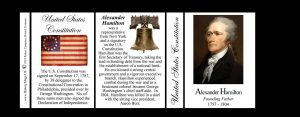 Alexander Hamilton US Constitution history mug tri-panel.