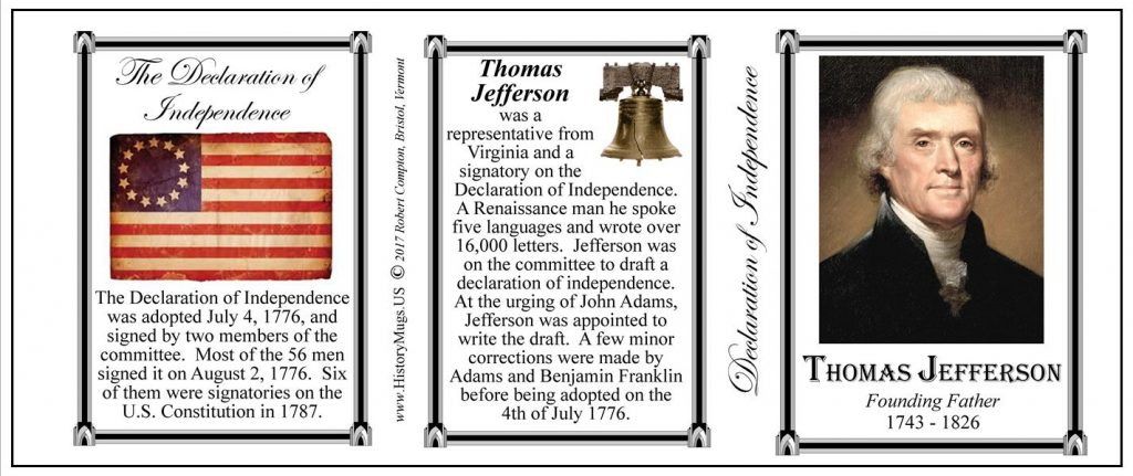 """jefferson and the declaration Monticello, """"little mountain,"""" was the home from 1770 until his death in 1826, of thomas jefferson, author of the declaration of independence and third president of the united states."""