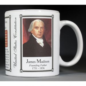 James Madison US Constitution history mug.