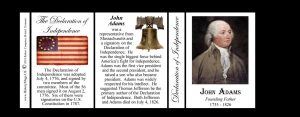 John Adams Declaration of Independence signatory history mug tri-panel.