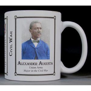 Alexander Augusta Civil War Union major history mug